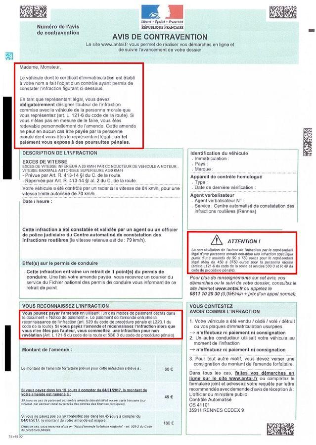 formulaire denonciation conducteur