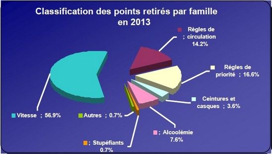 Classification des points retirés par famille en 2013.